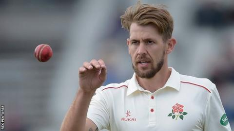 Lancashire's Tom Bailey took 3-44 from 15 overs in Glamorgan's second innings