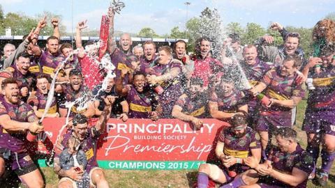Ebbw Vale were the 2016 Principality Premiership champions