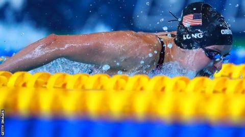 US Paralympic swimmer Jessica Long