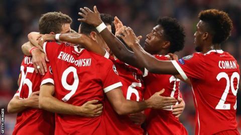 Bayern Munich players celebrate