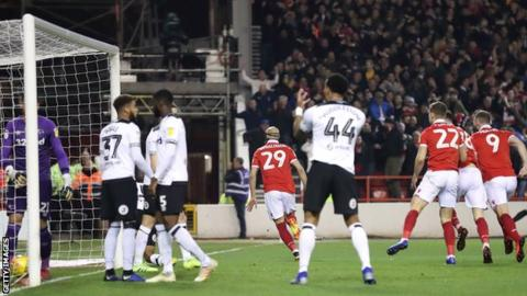 Derby concede against Forest