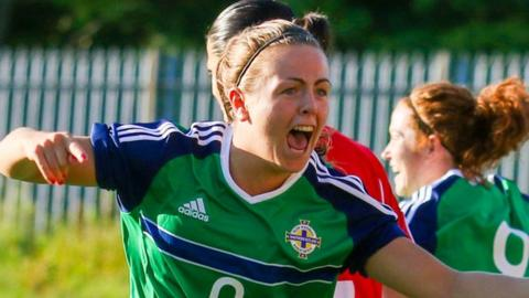 Northern Ireland striker Simone Magill scored the fastest ever women's international goal against Georgia in June