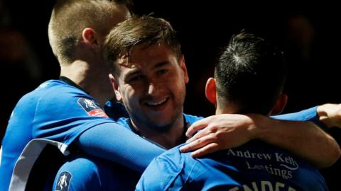 Rochdale celebrate their last-gasp equaliser