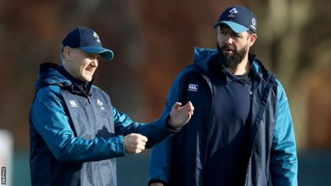 Ireland head coach Joe Schmidt and assistant coach Andy Farrell