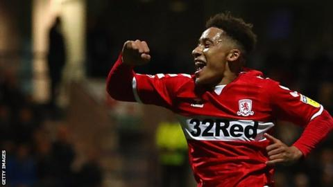 Middlesbrough's Marcus Tavernier scored his first goal of the season in the win against Preston North End