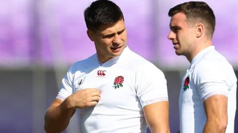 Ben Youngs and George Ford together in England training