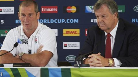 Stuart Lancaster and RFU chief executive Ian Ritchie