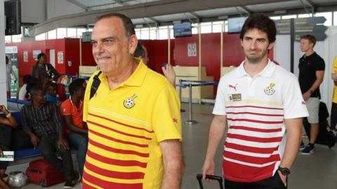 Former Ghana coach Avram Grant (left) and assistant Gerard Nus