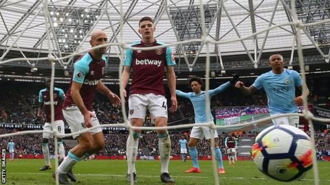 abfa2a650 West Ham United 1-4 Manchester City - BBC Sport