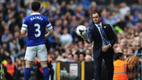 Roberto Martinez and Leighton Baines