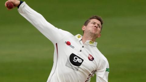Part-time spinner Joe Denly's 4-36 surpassed his 3-24 against Warwickshire at Tunbridge Wells in June as his career-best first-class bowling figures