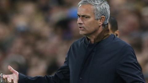 Jose Mourinho was not on the Chelsea bench for Saturday's defeat at Stoke as he served a one-game stadium ban
