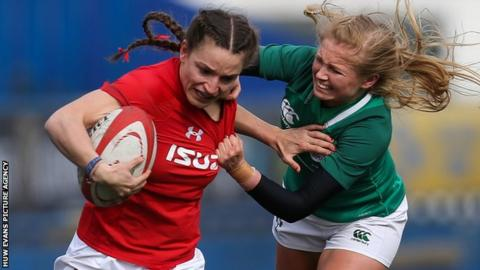 Jasmine Joyce in action for Wales