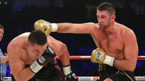 Hughie Fury fighting Joseph Parker