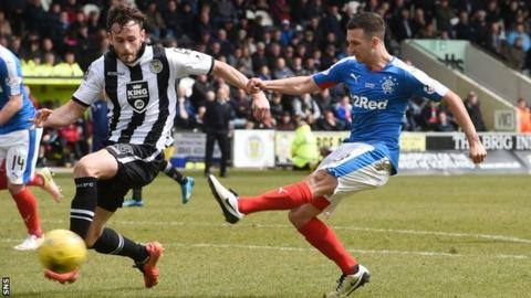 Jason Holt scores for Rangers against St Mirren