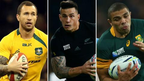Quade Cooper, Sonny Bill Williams and Bryan Habana