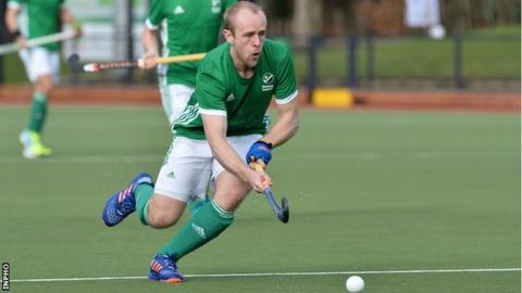 Eugene Magee of Banbridge scored two goals in Ireland's win over USA