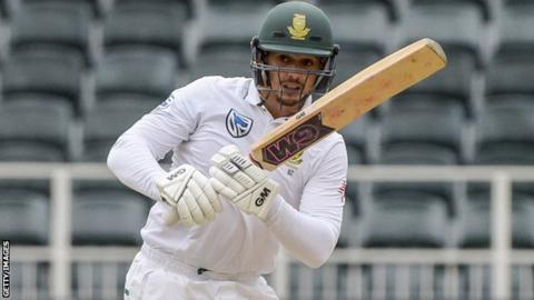 Quinton de Kock in action for South Africa