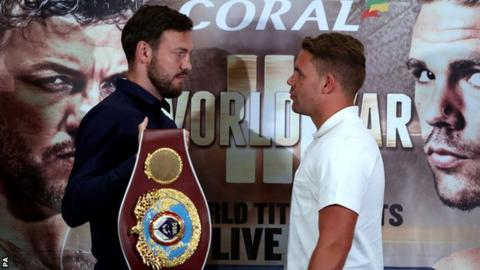 Andy Lee (left) and Bill Joe Saunders were scheduled to meet on 10 October in Manchester