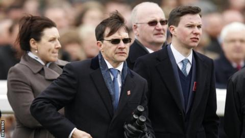 Aidan O'Brien with son Joseph