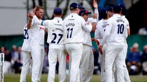 Essex celebrate wicket