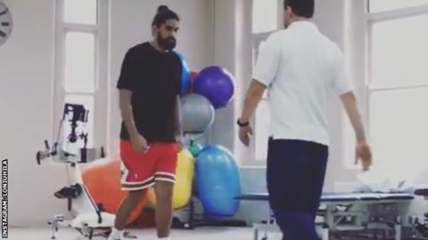 Injured rugby star Michael Fatialofa walks in 'miracle' recovery video