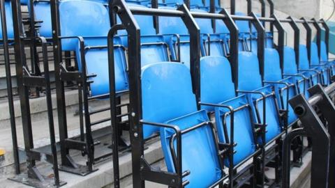 New 2020 seats installed at Wycombe's Adams Park