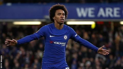Willian scores again as champions bounce back against Palace