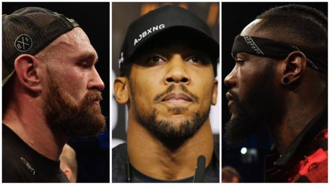 Tyson Fury, Anthony Joshua and Deontay Wilder