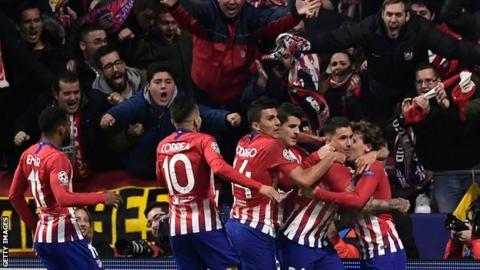 Atletico Madrid won 2-0 against Juventus