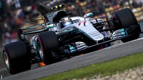 Mercedes driver Valtteri Bottas
