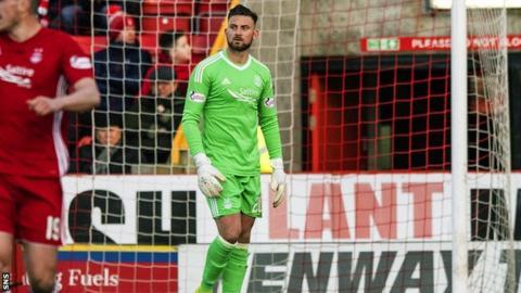 Aberdeen goalkeeper Danny Rogers