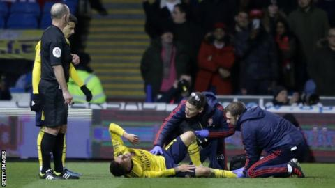 FA Cup: Arsenal midfielder Torreira suffers fractured ankle