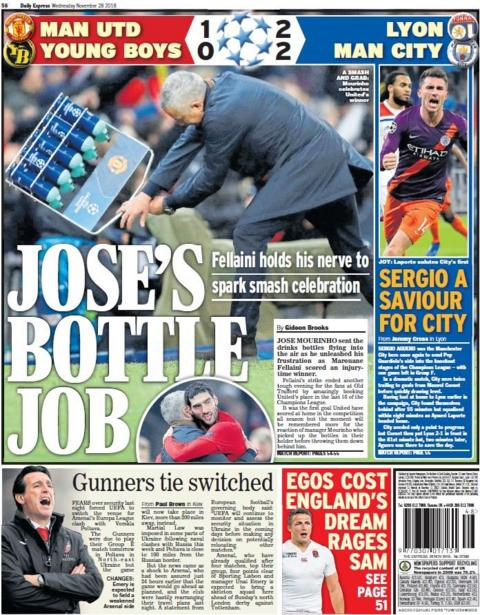 Express back page on Wednesday