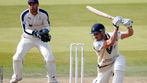 Nick Compton batting against Yorkshire