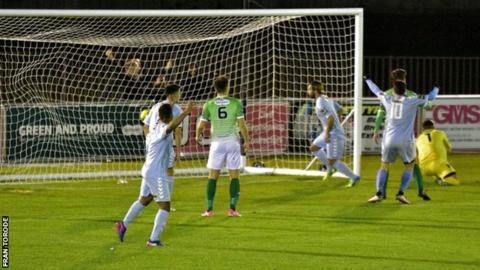 Lewes score against Guernsey FC