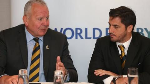 Bill Beaumont and vice-chairman Agustin Pichot
