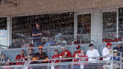 Reds game delayed on account of ... bees?
