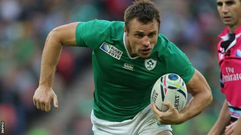 Tommy Bowe's season looks to be over after being ruled out for at least six months with a knee injury