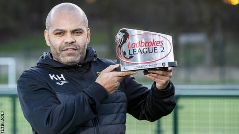 Kevin Harper was the League Two manager of the month for March