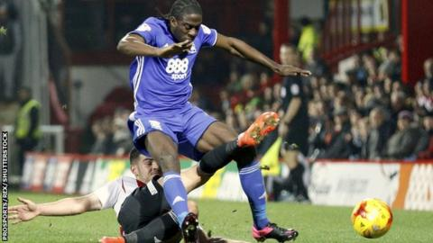 Birmingham City striker Clayton Donaldson