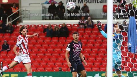 Joe Allen (left) has now scored three goals in his past seven games for Stoke City