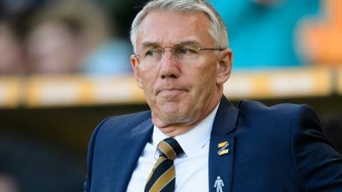 Hull City boss Nigel Adkins on the sidelines