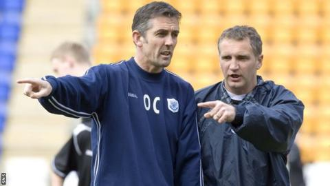 Owen Coyle and Sandy Stewart