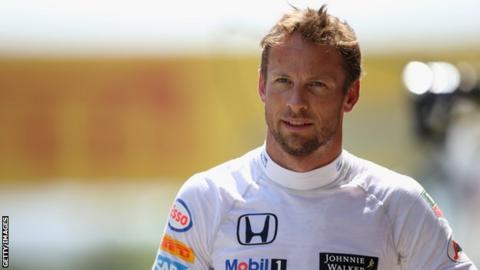 Jenson Button of McLaren
