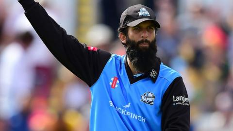 Moeen Ali's only previous appearance for Worcestershire this summer was in the T20 Blast against Notts