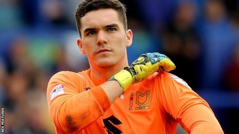 MK Dons goalkeeper Lee Nicholls