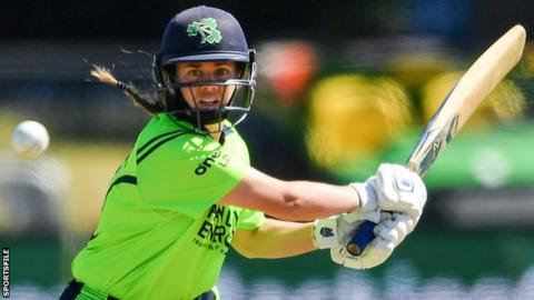 Laura Delany was injured in the first of three T20s against West Indies last month