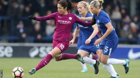 Nadia Nadim scored Manchester City's only goal to beat Chelsea at Kingsmeadow