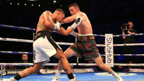 Taylor was due to make his first title defence at the Hydro in Glasgow on 2 May